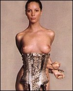 MILF model and sexy mama Christy Turlington naked and modeling her tits